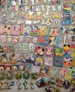 Just a (very) small sample of our pin collection.