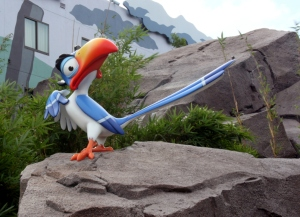 Zazu was a bit affronted that we walked right past without saying hello.