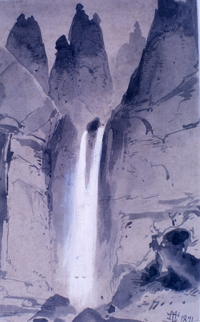 Tower Falls field sketch;Thomas Moran;1871; YELL 8523;