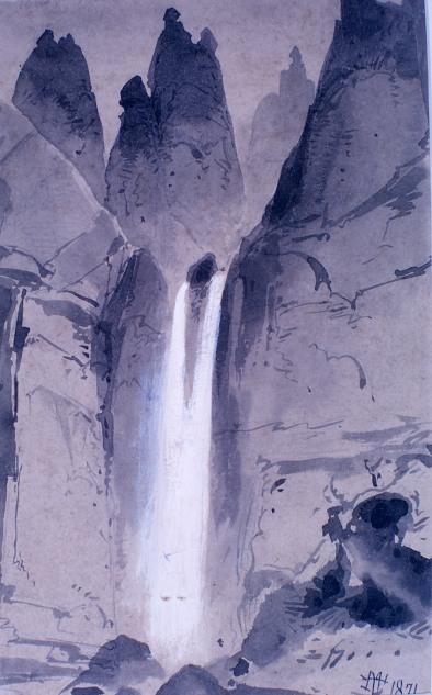 Tower Falls field sketch;Thomas Moran;1871; YELL 8523;