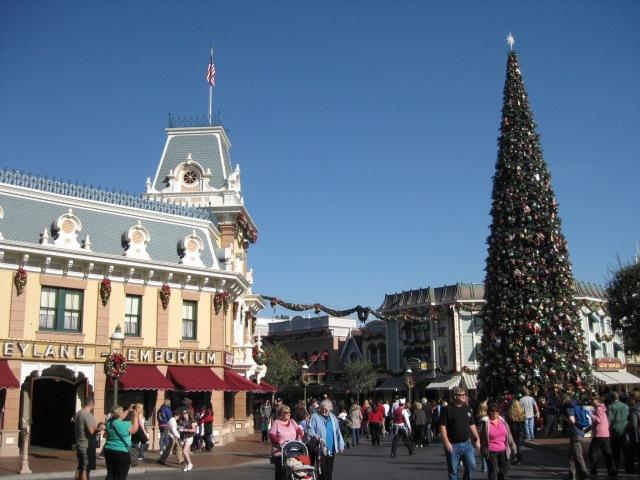 The Disneyland tannenbaum is anything but subtle.