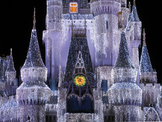Cinderella Castle after Disney hired their new lighting coordinator: Clark W. Griswold.
