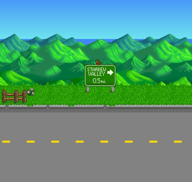 Road Sign Stardew